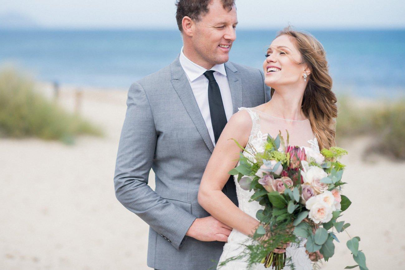happy couple on the beach Ibiza