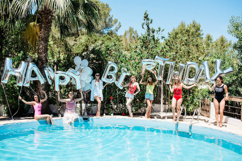 Ibiza birthday party